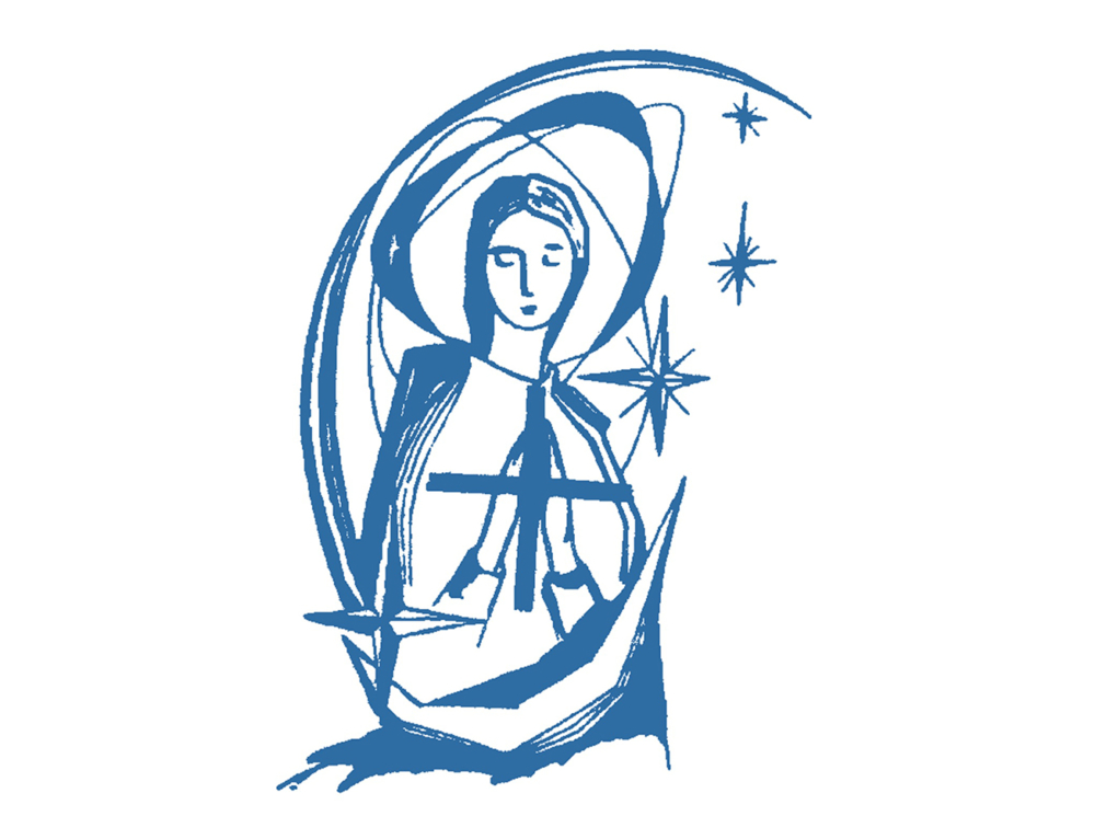 A Pilgrim with Mother Mary